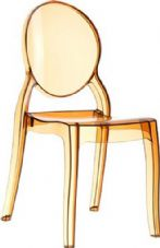 Thermo Plastic Elizabeth Stacking Chair - Amber